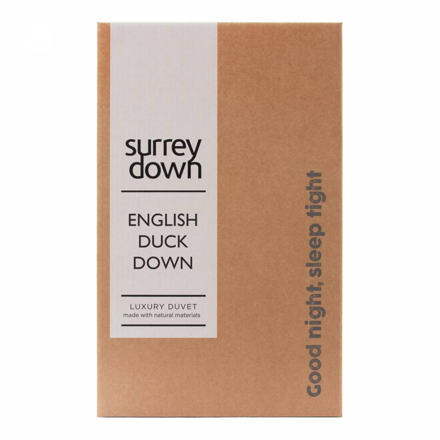 English White Duck Down 6 Tog Super King Duvet Brandalley