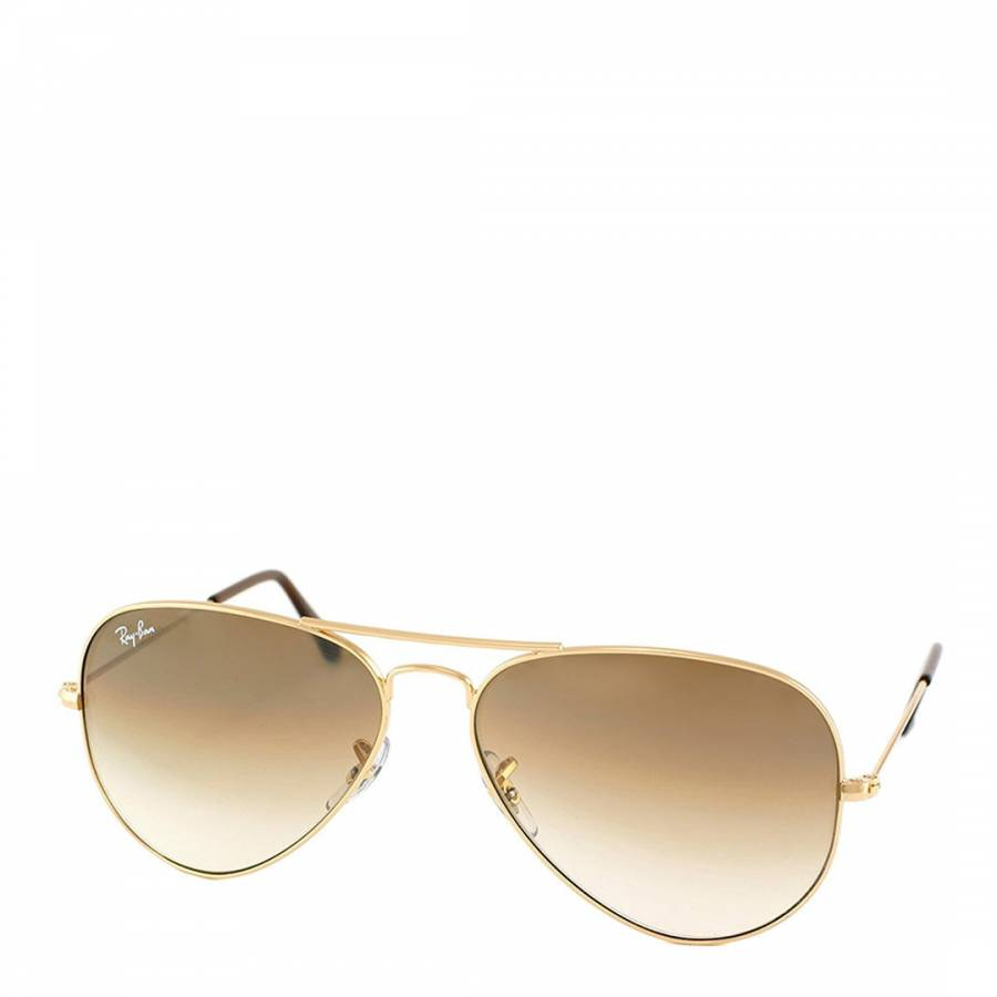 83df15545f Gold Men Aviator Ray Ban Sunglasses 58mm
