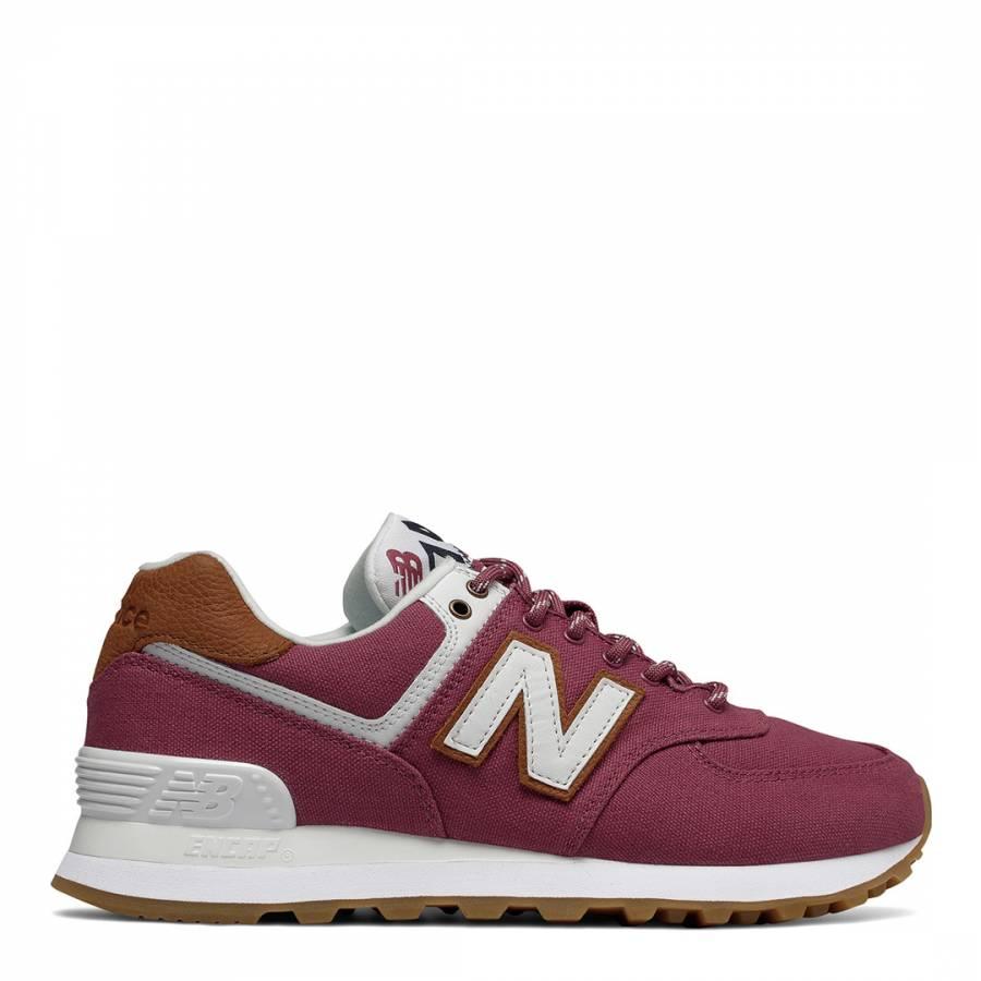 sports shoes 8a185 cca4f New Balance Raspberry Sea Escape Canvas 574 Sneakers