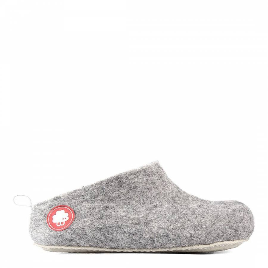 b42cf7af9 Light Grey Wool Gus Slippers - BrandAlley