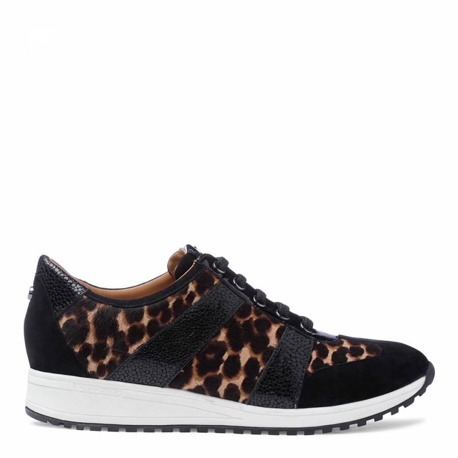 be586c16323d Camel Le Pliage Heritage Leopard Tennis Shoes - BrandAlley