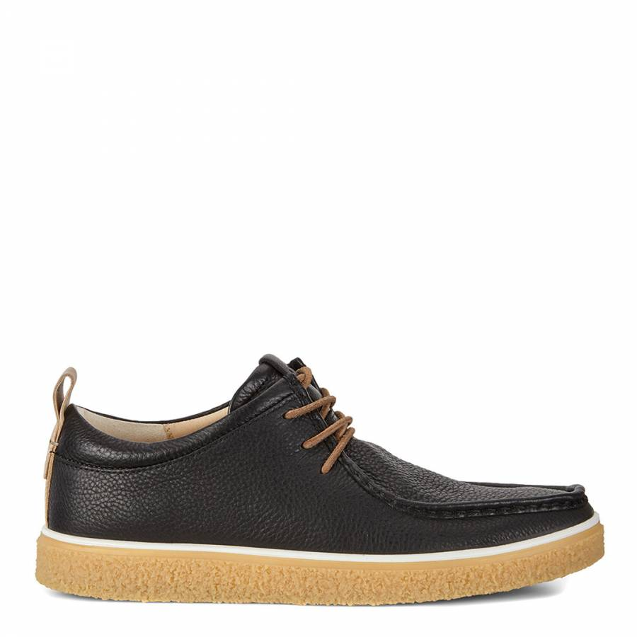 c3e4683e9b7 Black Powder Leather Crepetray Derby Shoes - BrandAlley