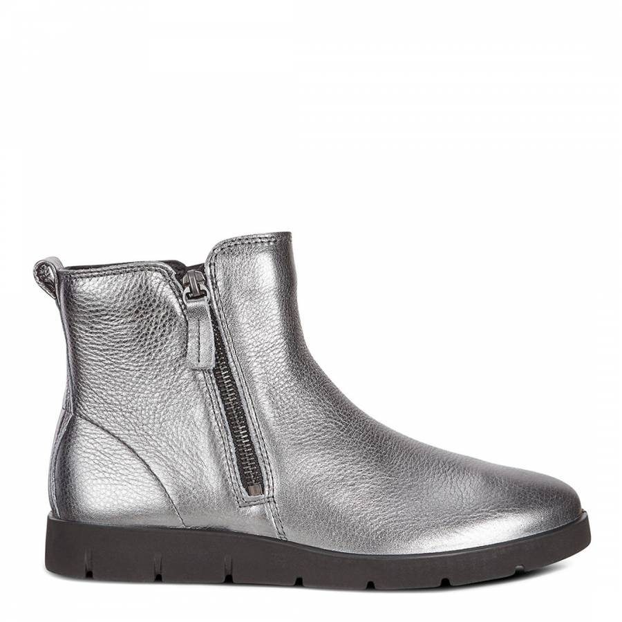 0fa9f757 Dark Shadow Leather Bella Metallic Ankle Boots - BrandAlley