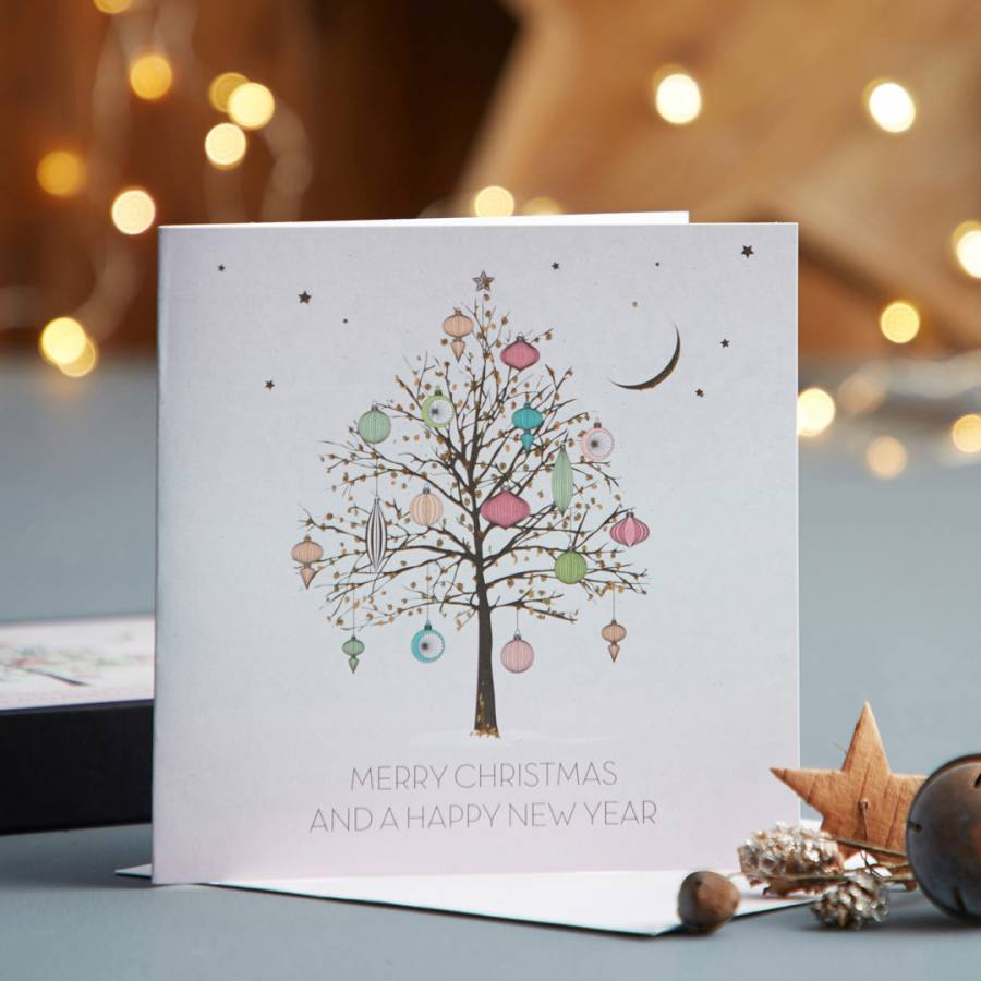 five dollar shake set of 12 enchanted tree merry christmas happy new year cards