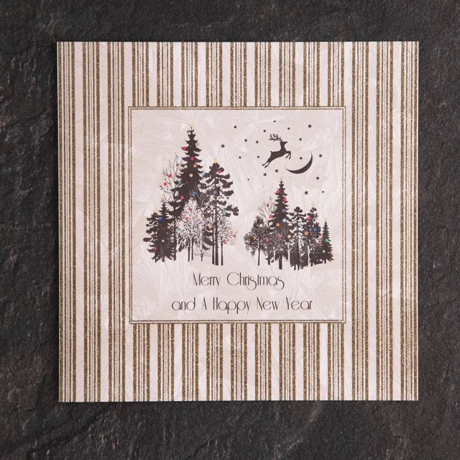 set of 12 magical forest merry christmas happy new year cards brandalley