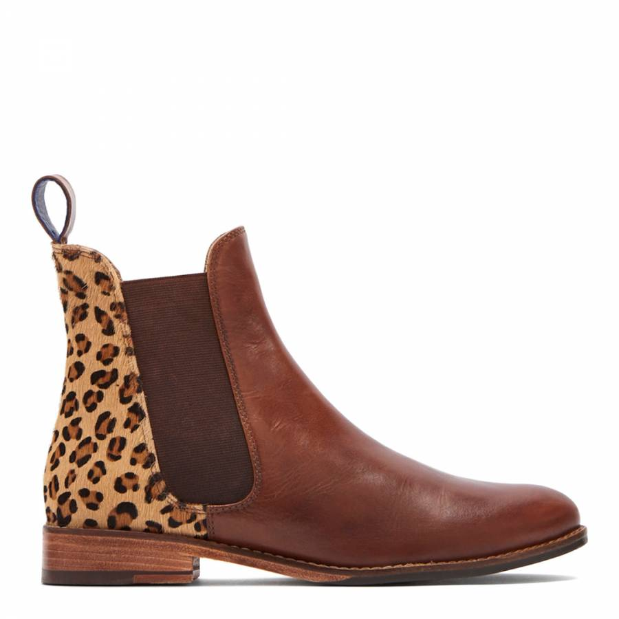 892635877 Leopard Westbourne Chelsea Boot - BrandAlley
