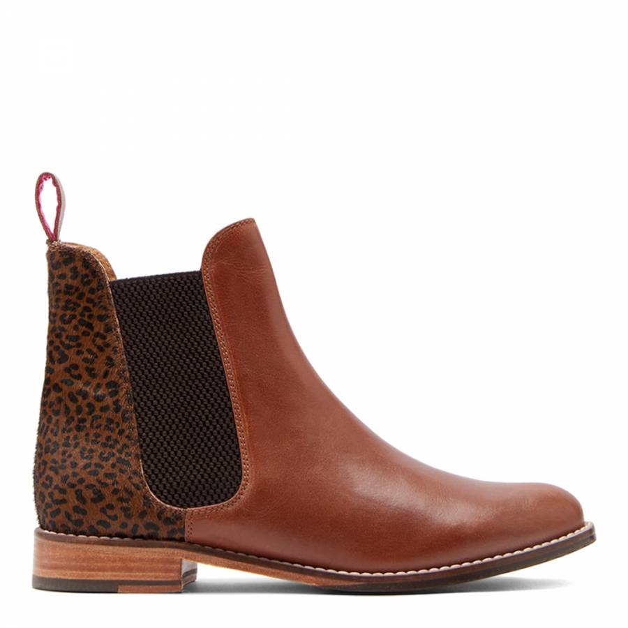 1569f448251 Ocelot Westbourne Leather Chelsea Boots - BrandAlley