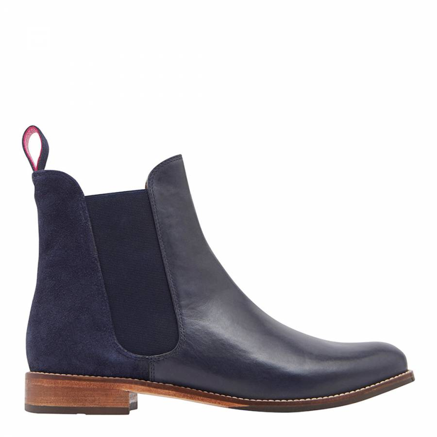 2546ab42709ff Navy Westbourne Leather Chelsea Boots - BrandAlley