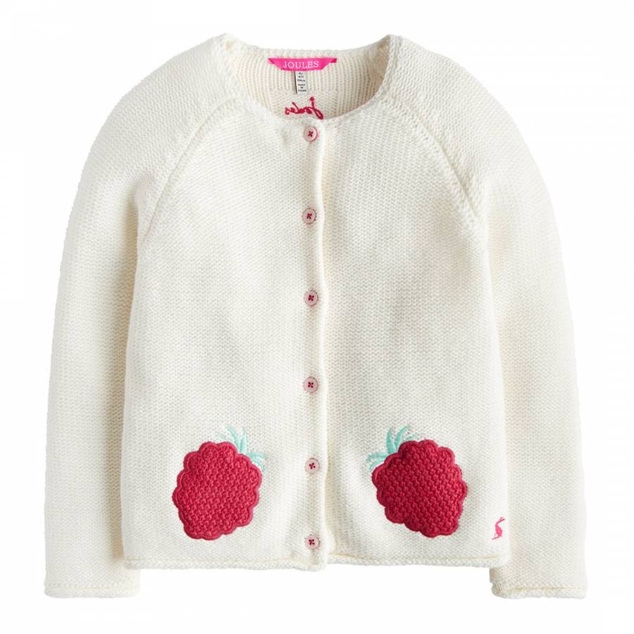 d462a4905867 Girls Dorrie Knitted Cardigan with Crochet Patches - BrandAlley