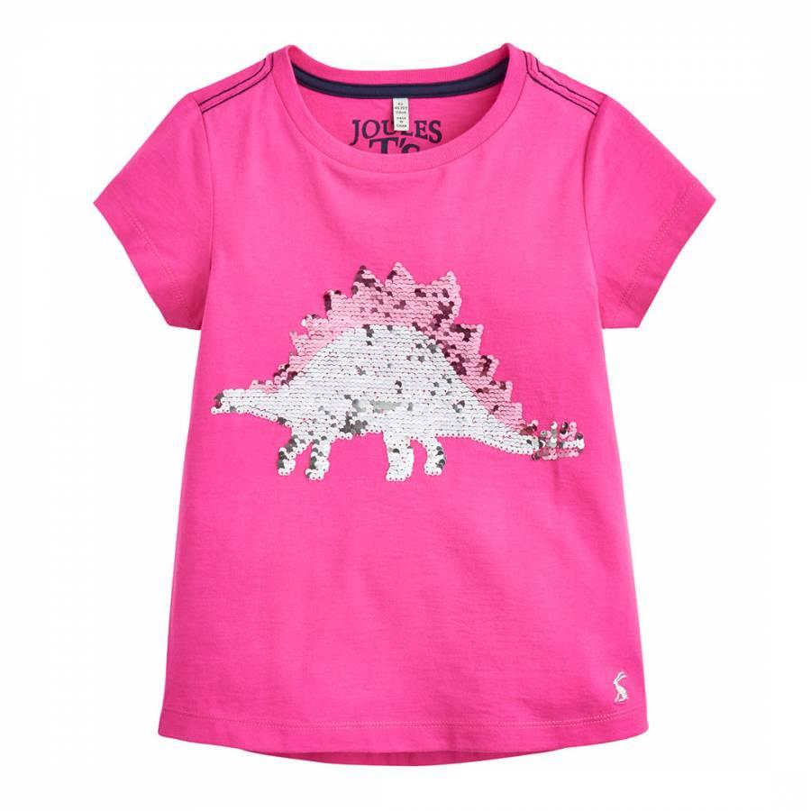 8502ed3a06 Girls Astra Sequin Stegosaurus T Shirt - BrandAlley