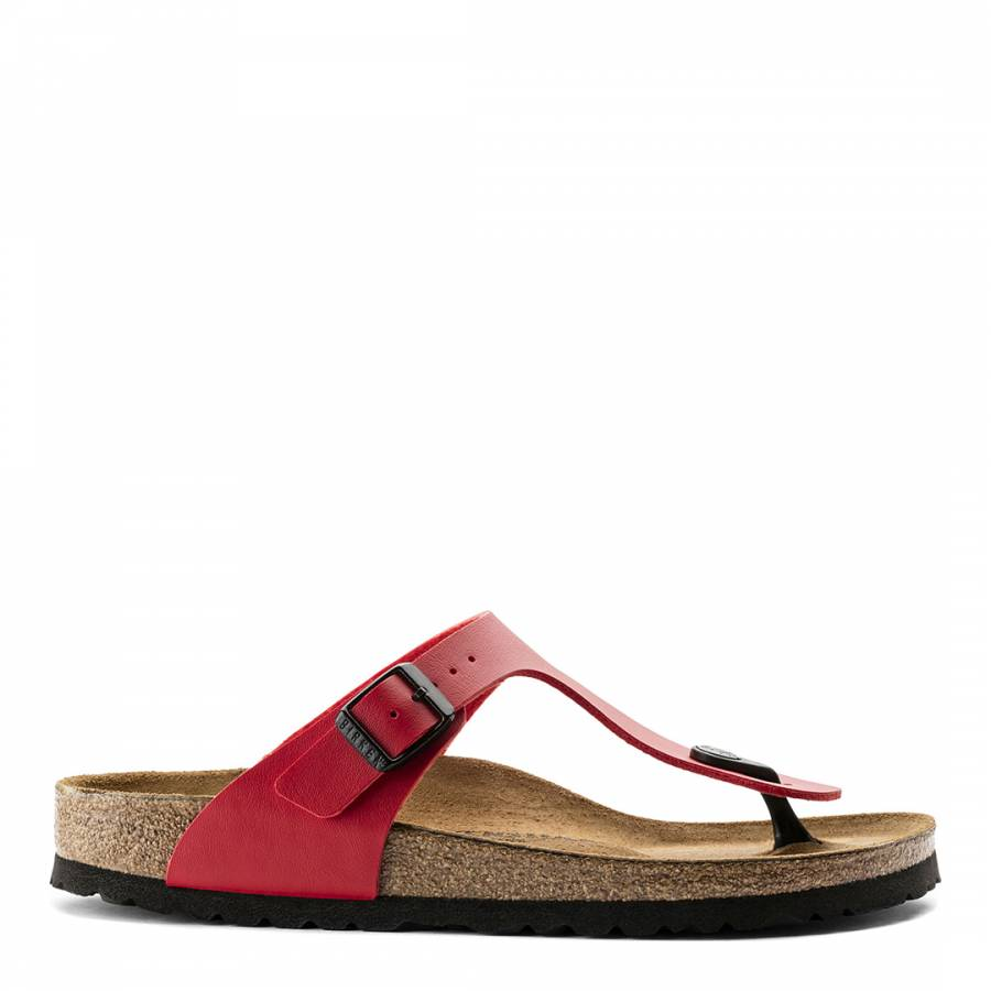 732c9356a08 Cherry Red Birko-Flor Gizeh Sandals - BrandAlley