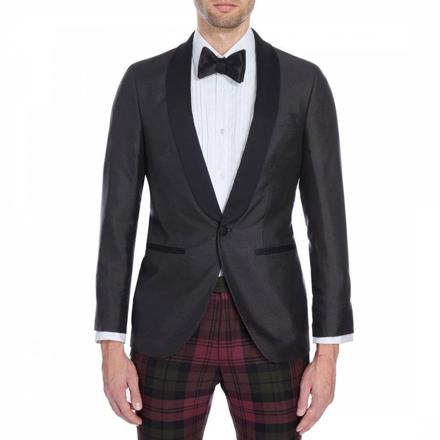 619782362c9 Black Wool Blend Dinner Jacket - BrandAlley