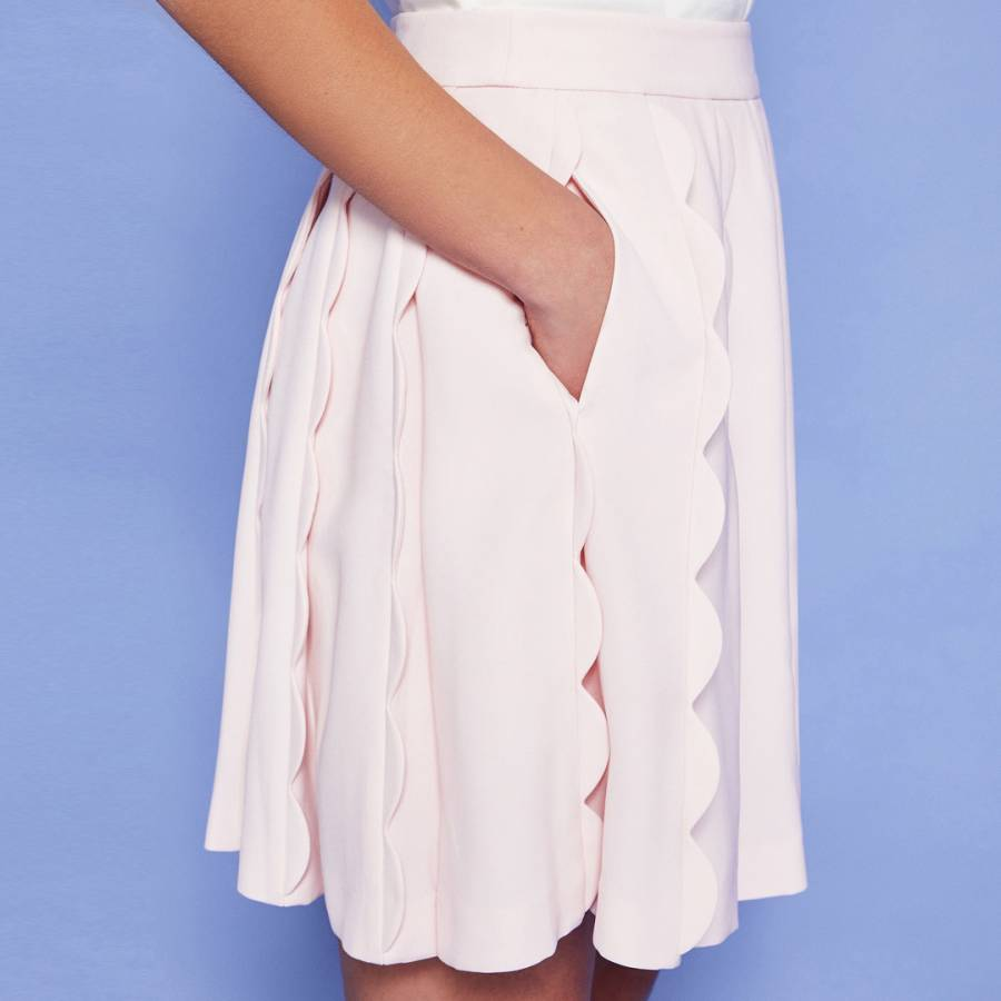 64f30ad2a Ted Baker Baby Pink Poppay Scallop Mini Skirt. prev