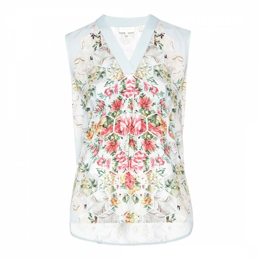 390709d21eea0 Light Grey Fellia Oriental Blossom Top - BrandAlley