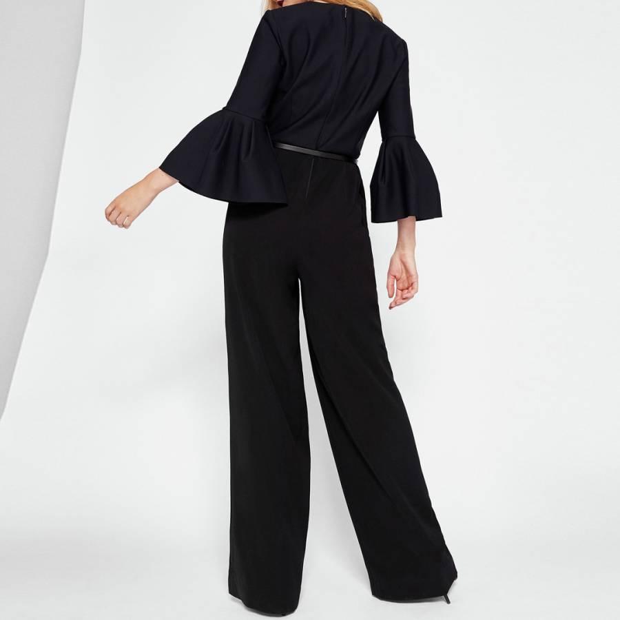 c782d577768 Black Theah Full Sleeve Jumpsuit - BrandAlley