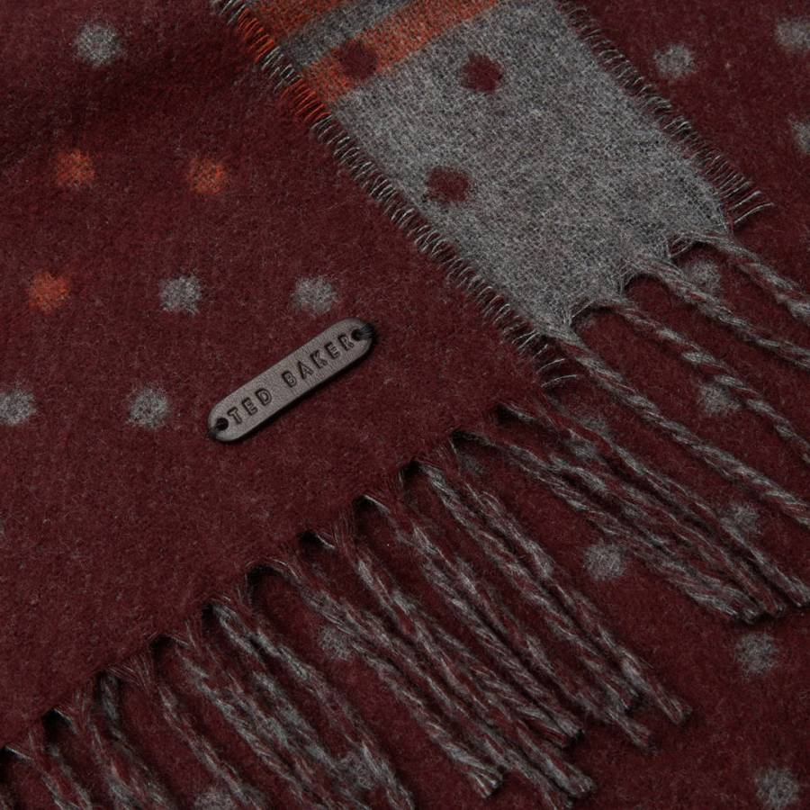 e5dd1a3a218b Dark Red Redpine Spot Scarf - BrandAlley