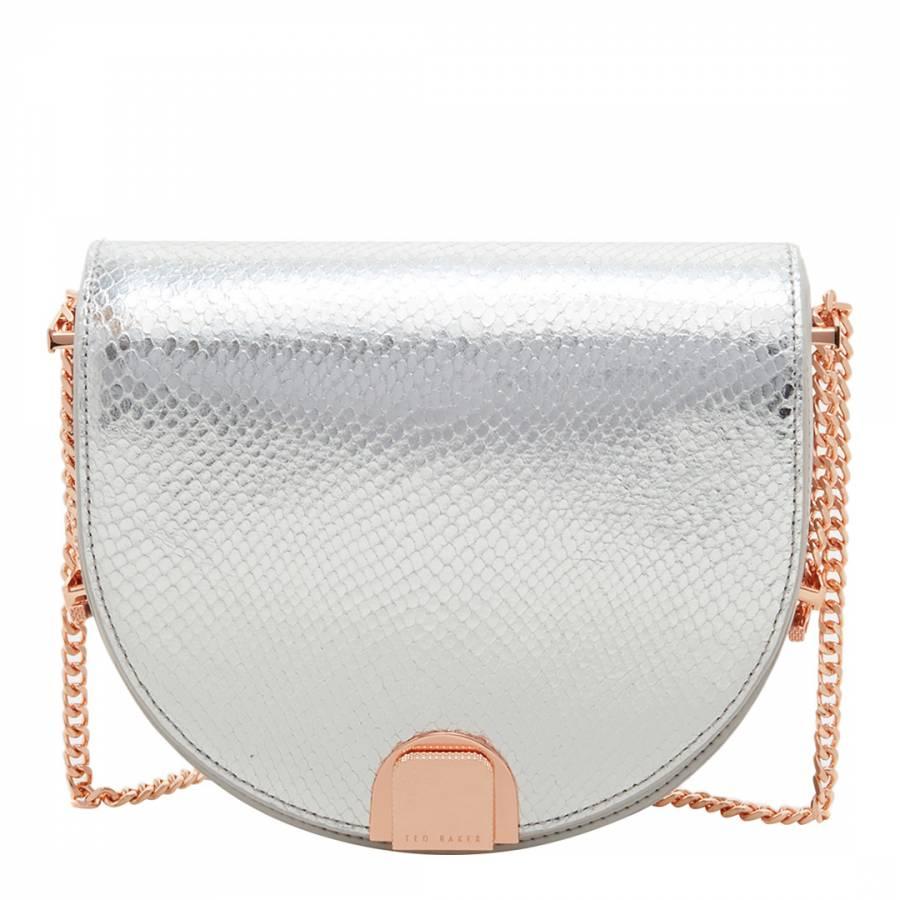 9b8f8a2a1 Light Grey Annii Mini Exotic Detail Moon Bag - BrandAlley