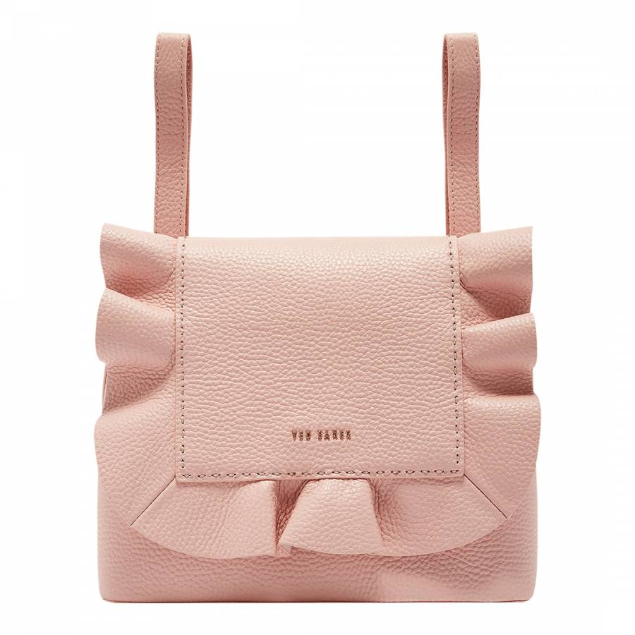 3afc208537fb Light Pink Rammira Leather Ruffle Backpack - BrandAlley