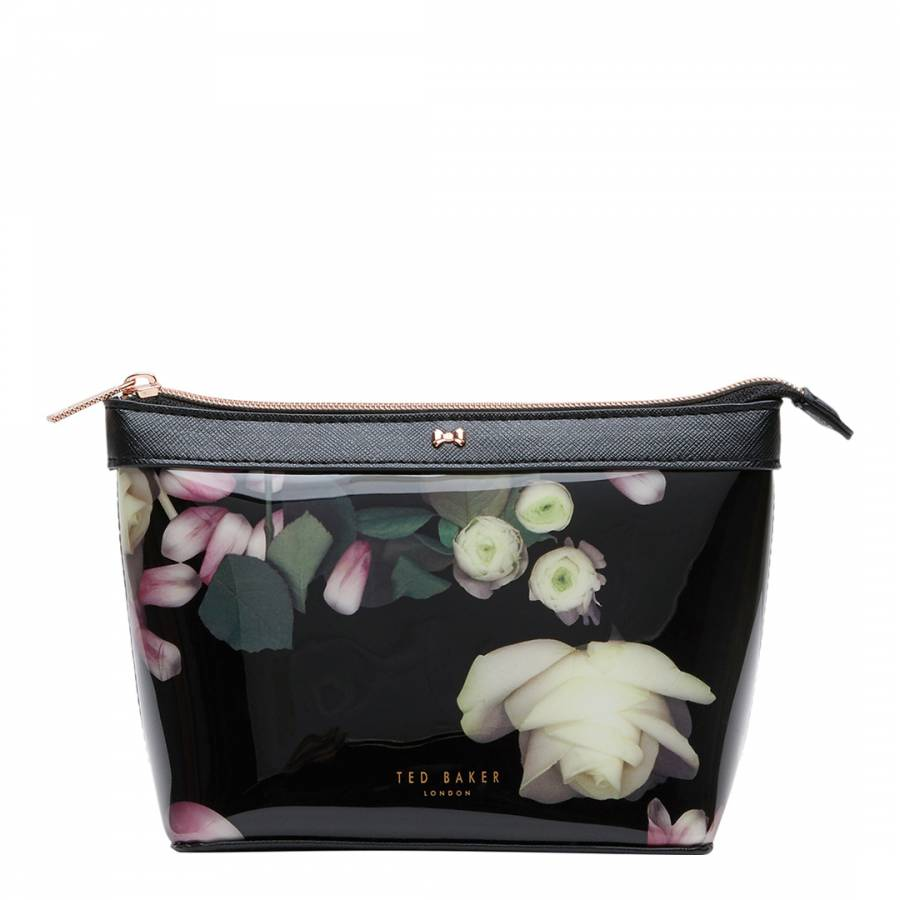 01d823f9abf903 Black Zaire Kensington Floral Makeup Bag - BrandAlley