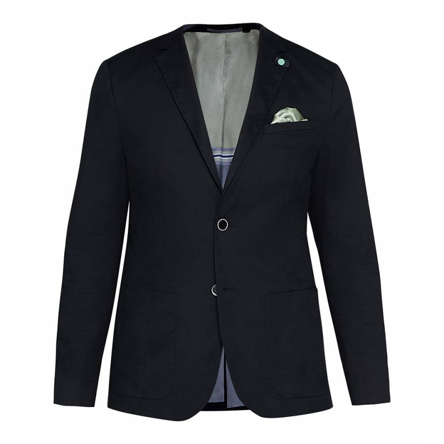 491a5527997e Ted Baker. Navy Glentro Semi Plain Wool Trousers. £62.00 Was £125.00 50%  Off · Navy Cliford Piece Dyed Cotton Blazer