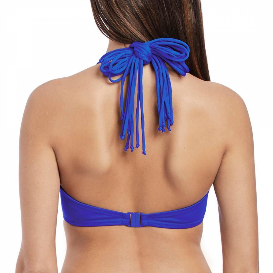 a5f3aafb7e8 Cobalt Macrame Underwire Banded Halter Bikini Top - BrandAlley
