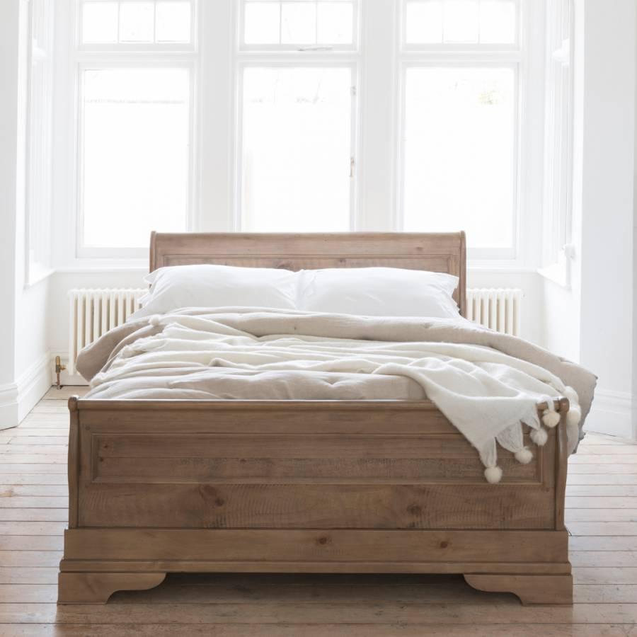 louis philippe rec bedroom 6 39 bateau lit driftwood inc slats brandalley. Black Bedroom Furniture Sets. Home Design Ideas