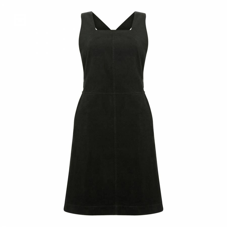 Deep Green Cord Cotton Pinafore Dress Brandalley