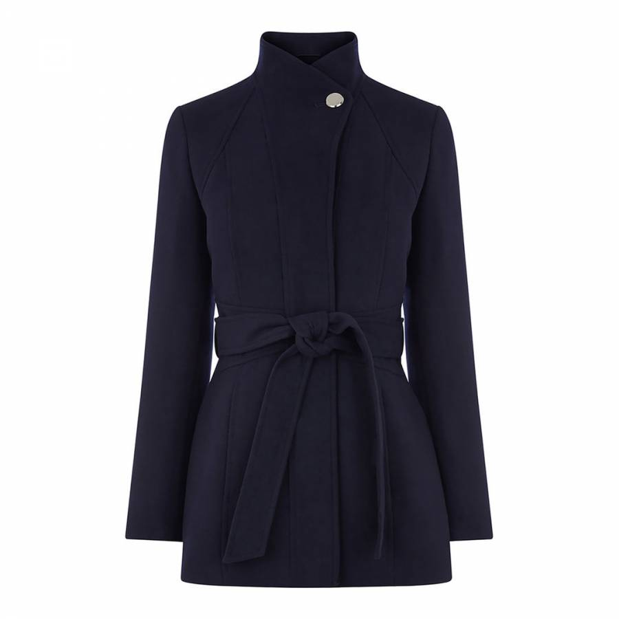 95a223bd6466 Navy Hazel Panel Fitted Coat - BrandAlley