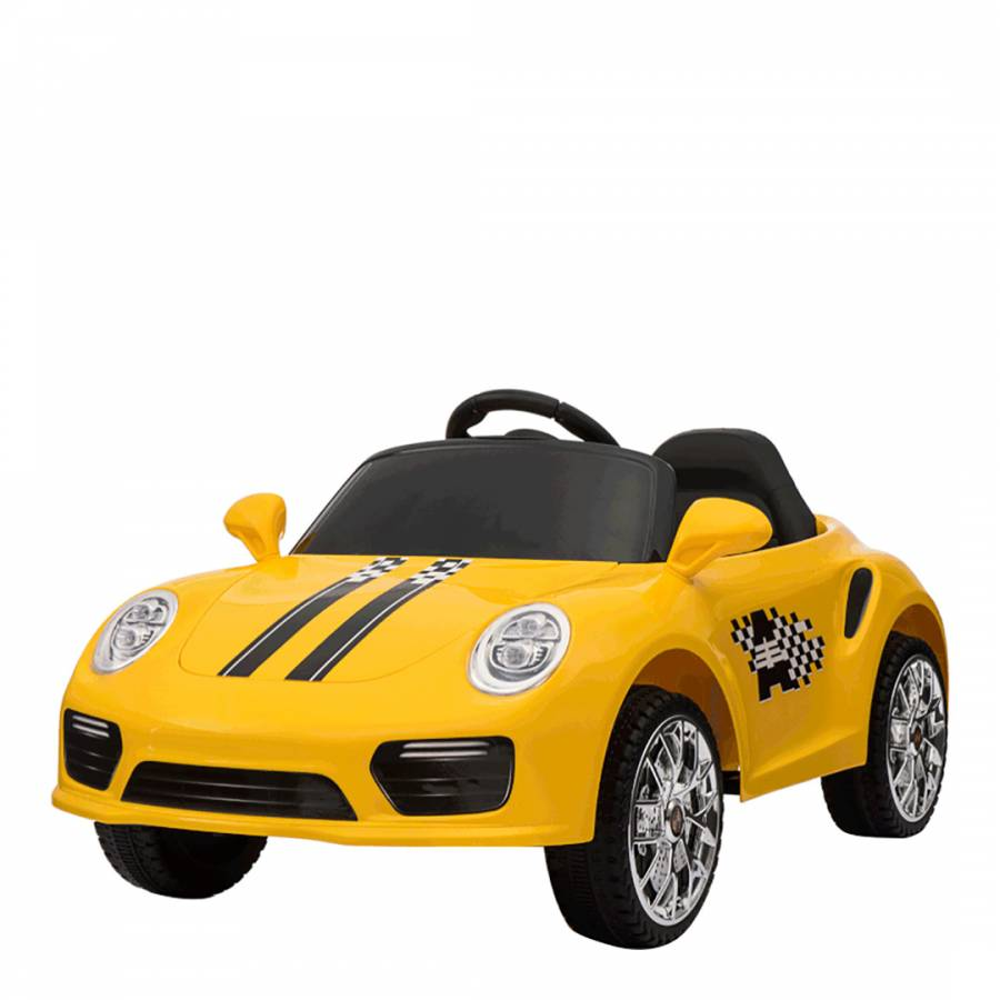 e0bd0874455ac Zoom · Ricco Toys Yellow Battery Powered Boxster Porsche Style Ride On