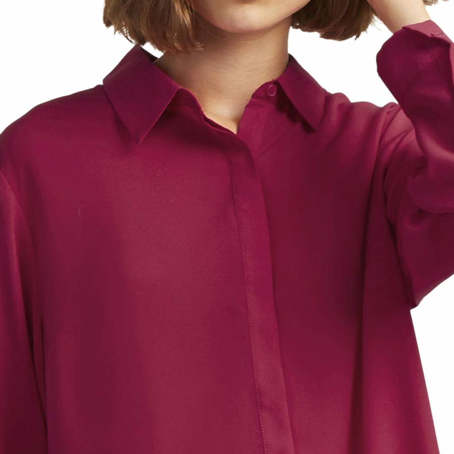 93f77ad5991 Baked Cherry Crepe Light Pleat Hem Shirt - BrandAlley
