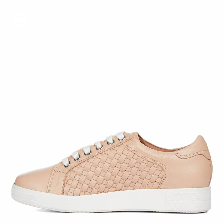 Nude Leather Judge Low Top Trainers
