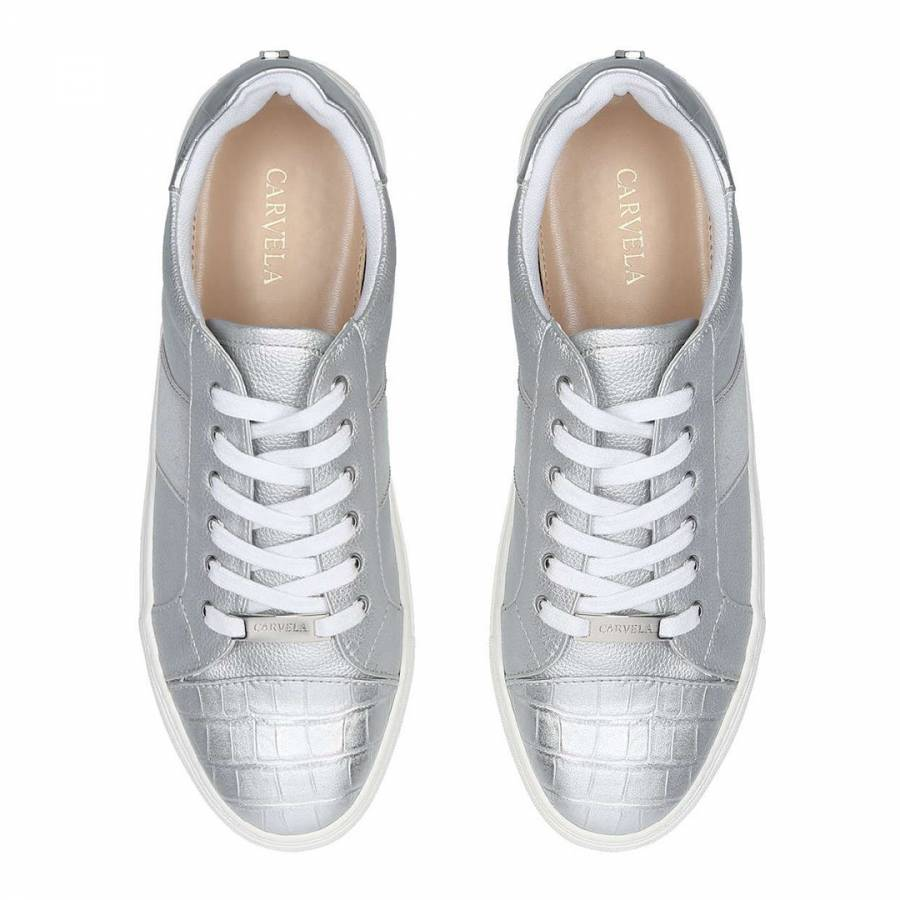 Silver Jumping Croc Low Top Trainers