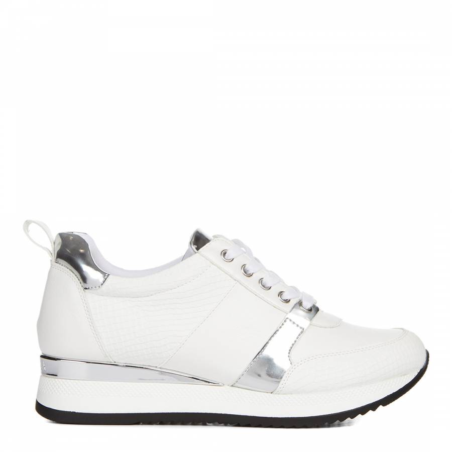 White Leather Justified Chunky Low Top