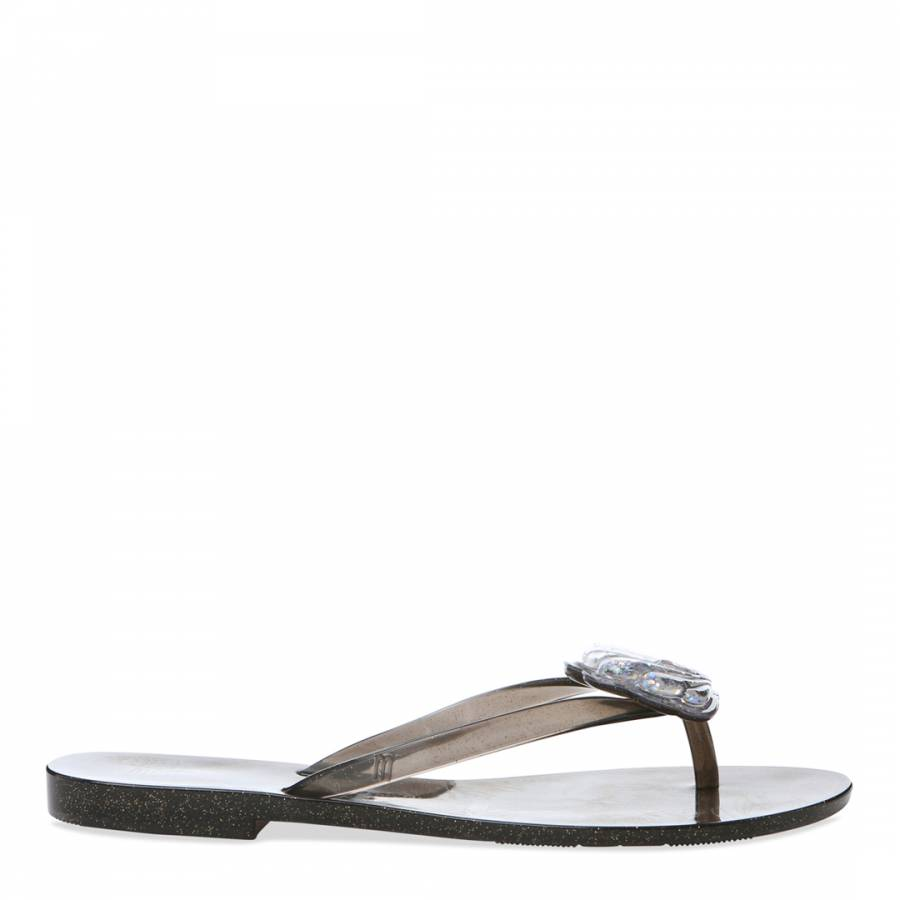 Image of Black Harmonic Shell Flip Flop