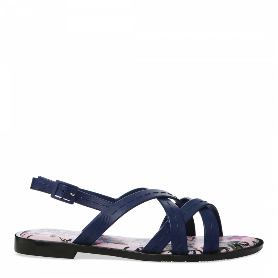 Image of Navy JWU Hailey Sandal