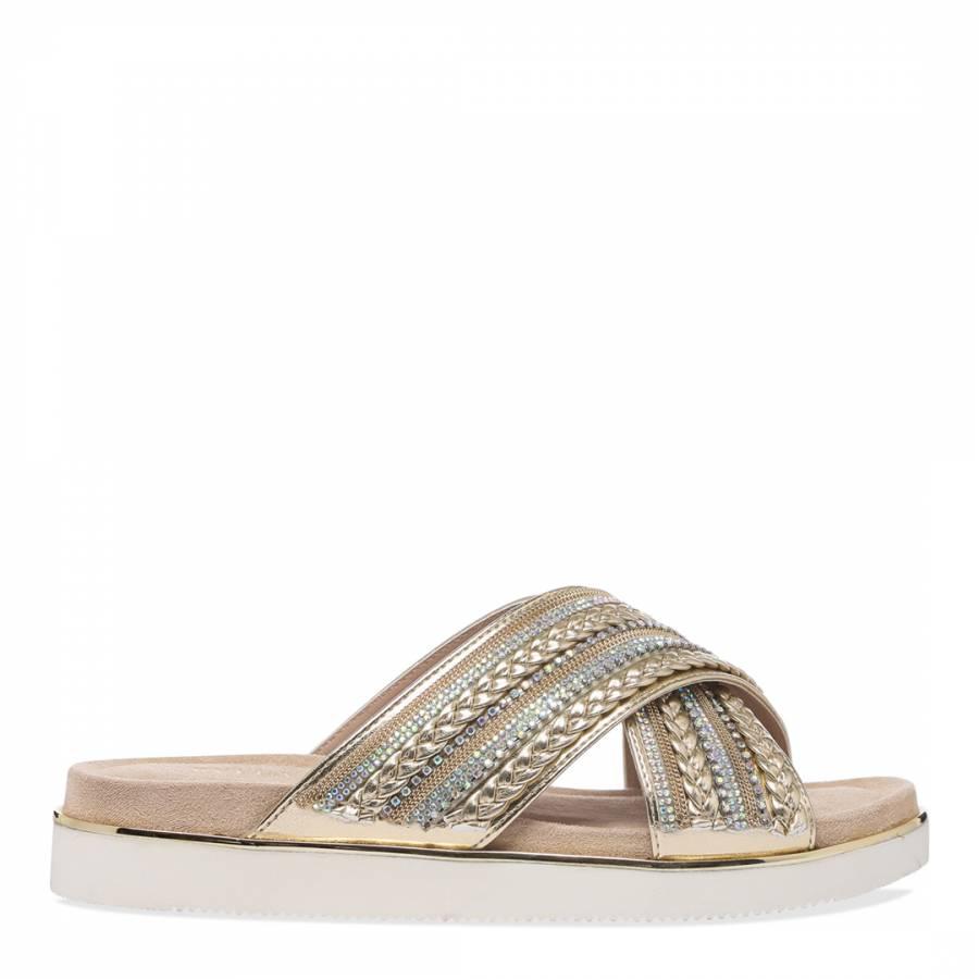 d815cc8bbb Beige Klipper Flat Sandals - BrandAlley