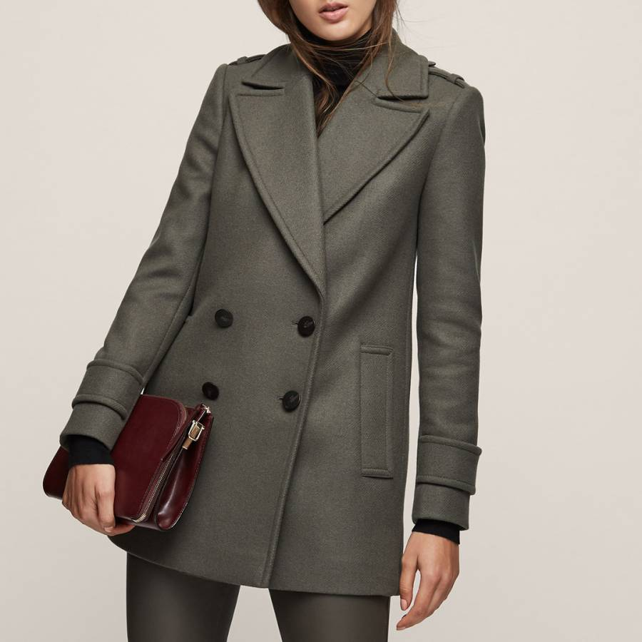 2aea55bcaf Juniper Green Maida Coat - BrandAlley