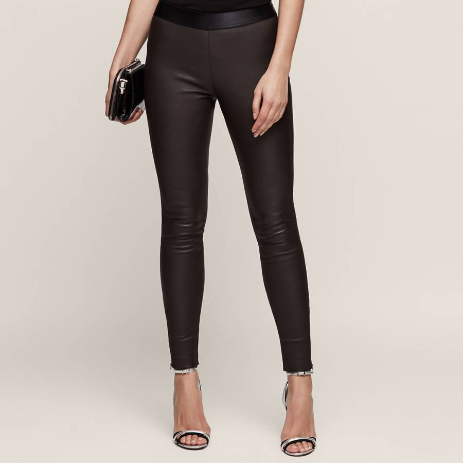 Chocolate Carrie Leather Leggings