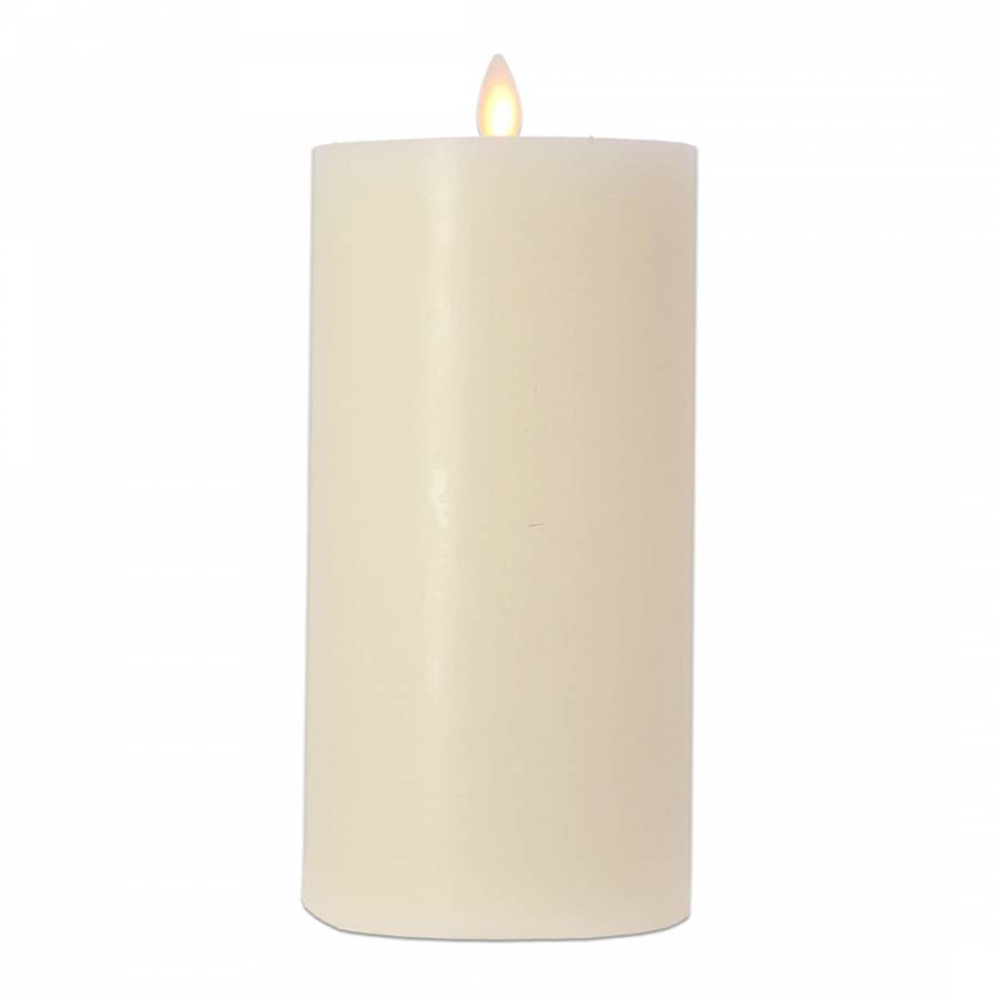 Image of Ivory Flat Top Pillar Candle 20cm