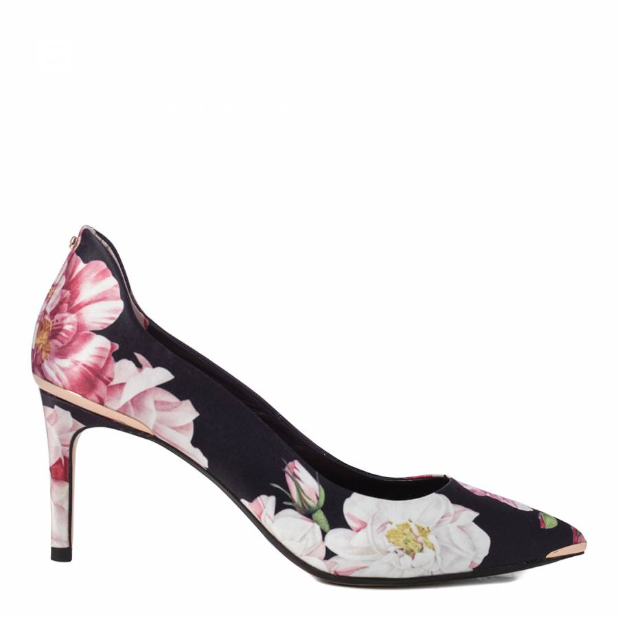 21daf08fafa0f6 Black Floral Viyxinp Stiletto Heel Court Shoes - BrandAlley