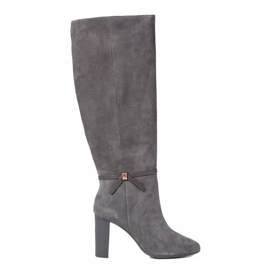 90f5bc09d Dark Grey Linaey Knee High Boots - BrandAlley