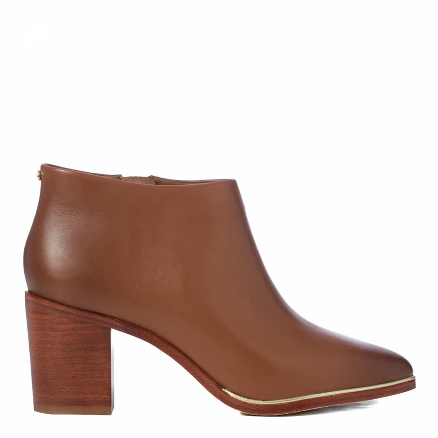 88dbb2efca9c79 Dark Tan Leather Hiharu 2 Ankle Boots - BrandAlley