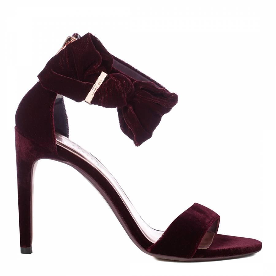 420ec62d20b3 Silver Leather Peyepa Block Heel Bow Sandals - BrandAlley