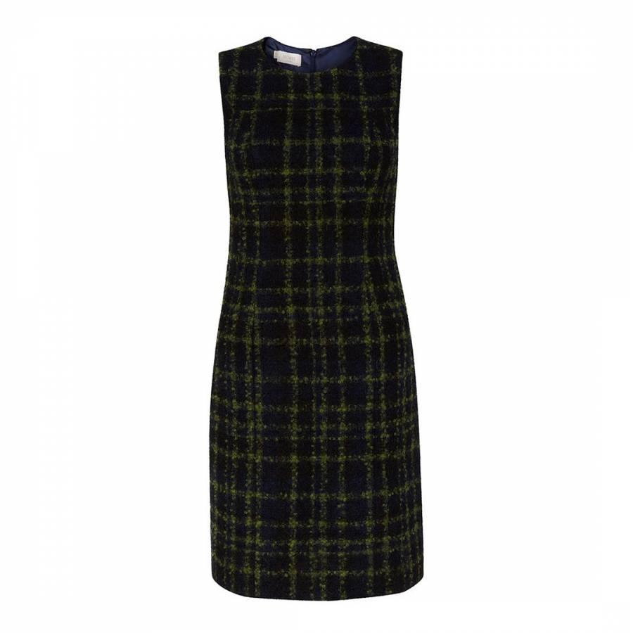 15a5896971e1 Hobbs London Navy Check Acacia Wool Blend Dress