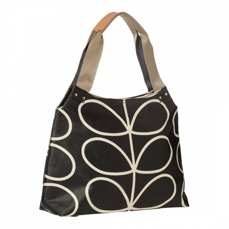 3d69bb5514 Liquorice Giant Linear Stem Classic Zip Shoulder Bag - BrandAlley