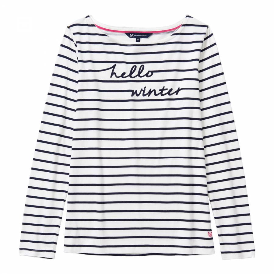 5487ef7a79b6 Crew Clothing Navy/White Essential Printed Breton Top