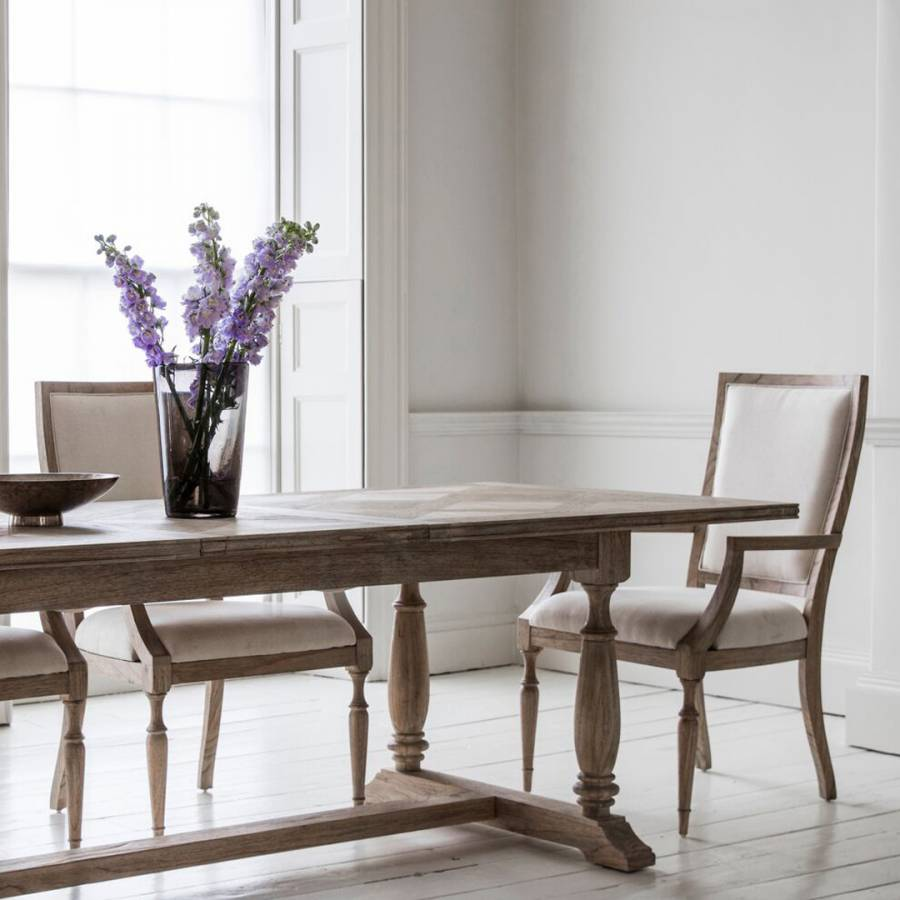 Mustique Extending Dining Table Set With 4 Side Chairs And