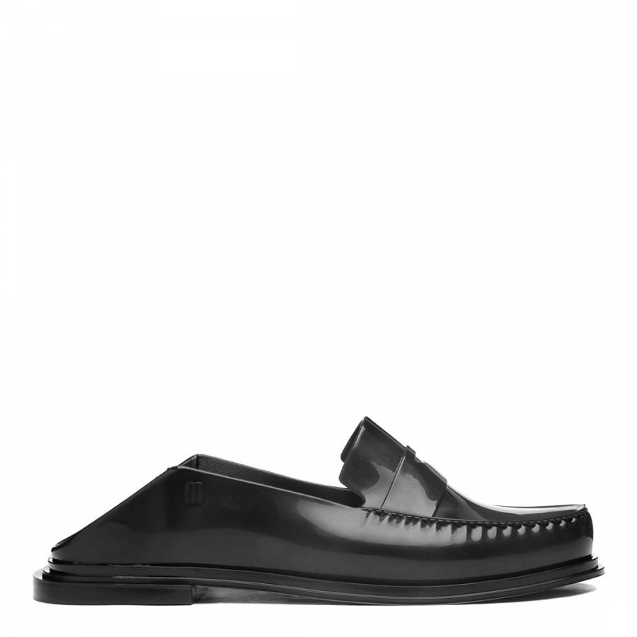 Image of Black Gloss Bend Flat Moccasins