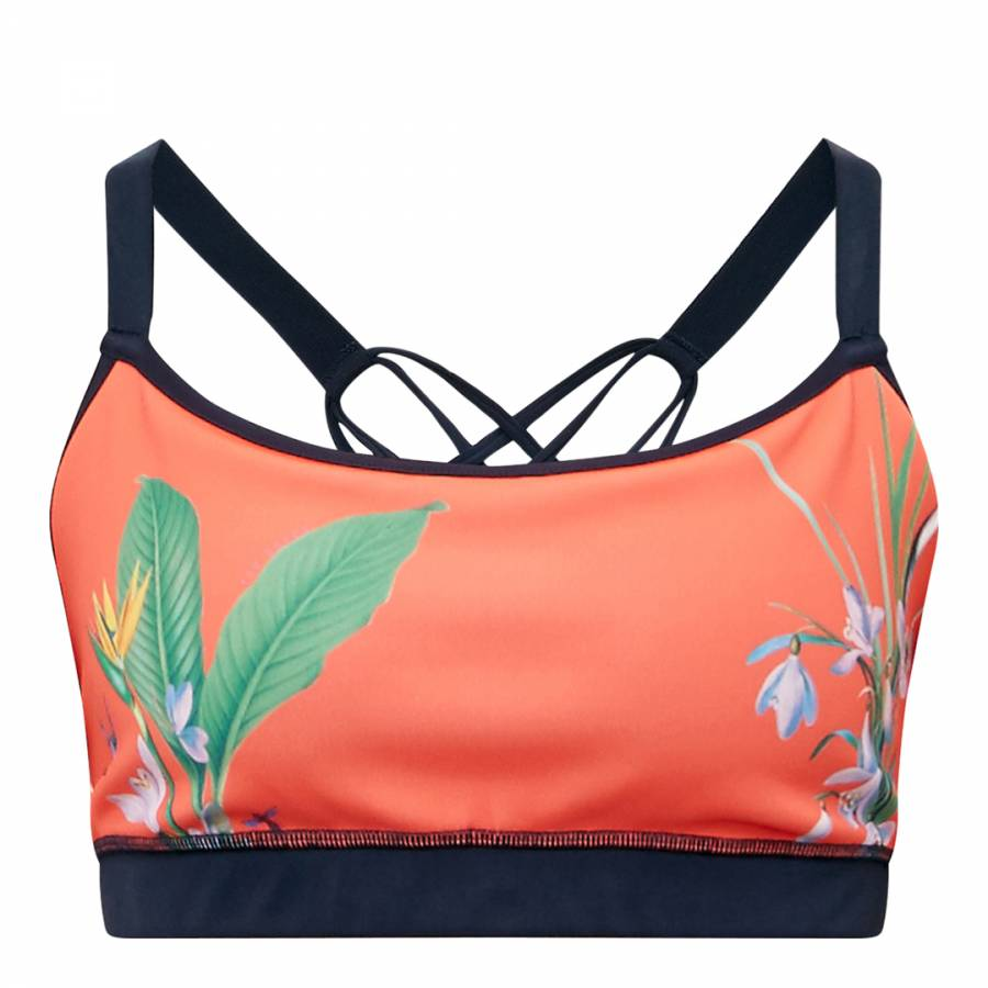 7bb6a49813 Red Bract Tropical Oasis Sports Bra - BrandAlley