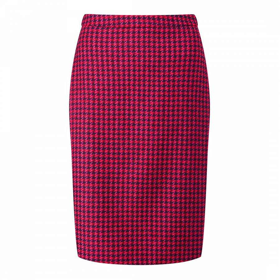 c3cdf38e4 Pure Collection Pink/ Red Dogtooth Wool Pencil Skirt. prev. next. Zoom